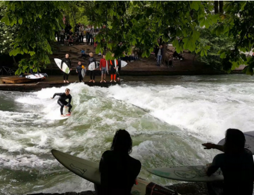 Surf on a river in Munich this week!